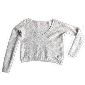 Free People Gossamer Sweater Crop Alpaca Gray XS